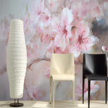 Plum flower hand painted oil painting bedroom wall custom high-end mural factory wholesale wallpaper mural photo wall hand painted color oil painting background wall professional production mural factory wholesale wallpaper poster photo wall