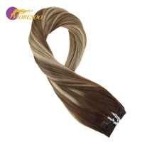 Moresoo 100 prawdziwe Remy włosy do włosów włosy doczepiane clip in brązowy #4 blaknięcie do brązowy #8 podkreślił z blond #22 człowieka do włosów 9 sztuk/100G