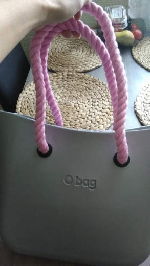 1 pair new brown color 65 cm rope handle for obag bag use photo review
