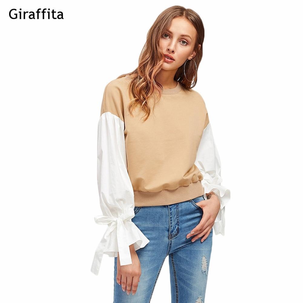 Women Autumn New Heavy Round Neck Hoodies Sweatshirt Stitching Lace Long-sleeved Casual Sweatshirt