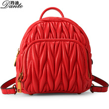 Данте модные женские туфли из натуральной овечьей кожи рюкзак для подростков девочек тиснение Цвет школьные сумки корейских студенток Totes