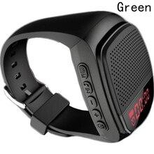New Style Wireless Bluetooth MP3 Speaker Watch Sports Smart Handsfree TF FM LED Display Anti-Lost Alarm Bluetooth Speaker