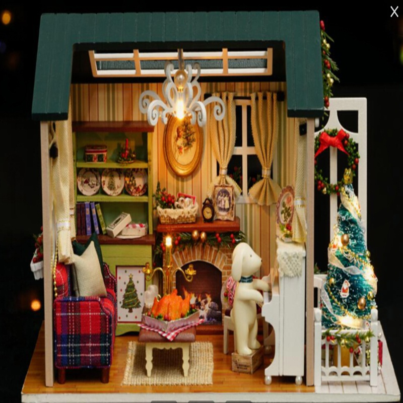 New CuteRoom Z 009 A Dollhouse Handmake DIY Doll House Miniature Kit Collection Christmas Gift With