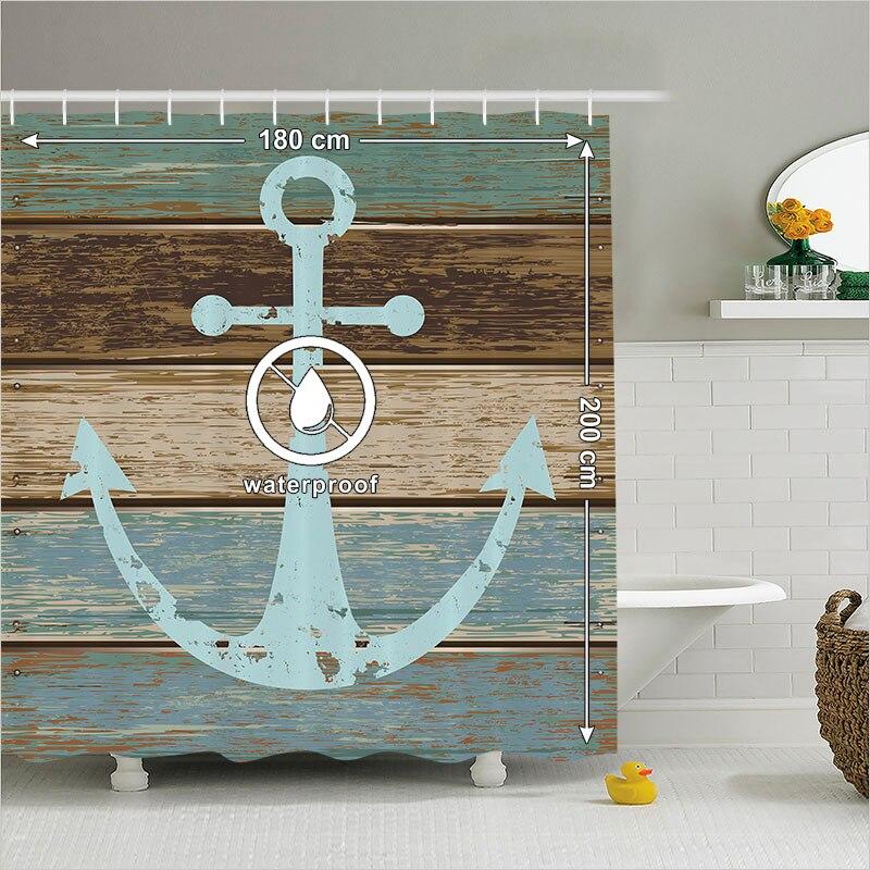 Fotoshtora 180 200 Cm Shower Curtain Anchor Bathroom Accessories Nautica In Shower Curtains