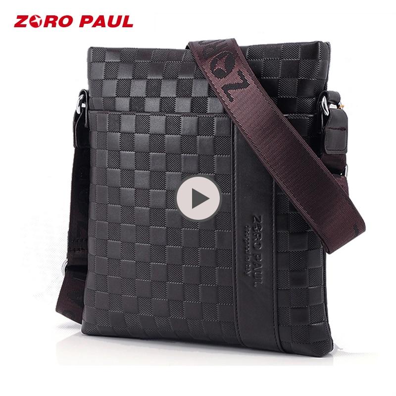 ZORO PAUL 2018 Brand Men Messenger Bag Male Leather Casual Crossbody Bag Business Men's Handbag Bags for gift Shoulder Bags Men сумка zoro paul zr1901 3