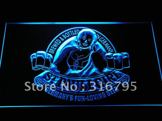 a225 St Pauli Girl Germany Beer Bar Logo LED Neon Sign with On/Off Switch 7 Colors 4 Sizes to choose