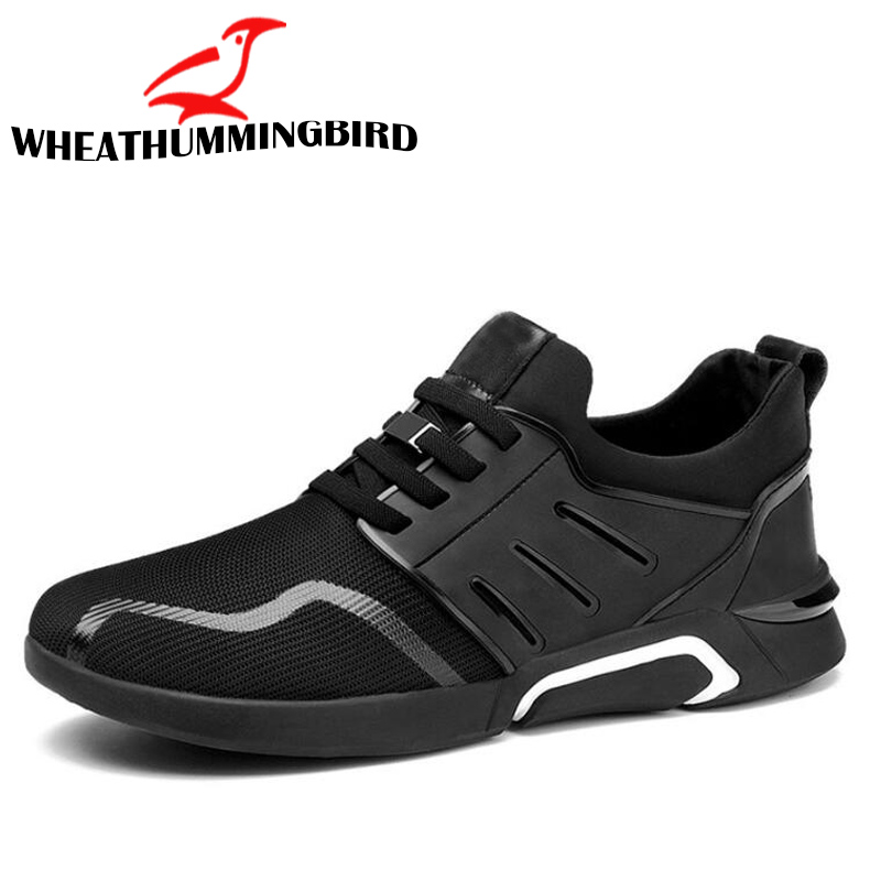2018 New Brand Fashion ALL BLACK Male Sneakers Casual Flats Shoes Gym Trainers Shoes Men air Mesh Black Breathable Shoes LC-70 mvp boy brand 2018 new summer mesh air mesh men breathable loafers black shoes spring lightweight fashion men casual shoes