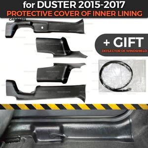 Image 1 - Beschermende Covers Voor Renault / Dacia Duster 2015 2017 Van Binnenvoering Abs Plastic Trim Accessoires Bescherming Van Tapijt styling