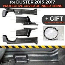 Renault / Dacia Duster 용 보호 커버 2015 2017 내부 라이닝 ABS 플라스틱 트림 액세서리 카펫 스타일링 보호