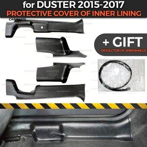 Image 1 - Защитные чехлы для Renault / Dacia Duster 2015 2017, внутренняя подкладка из АБС пластика, аксессуары для отделки, защита ковра