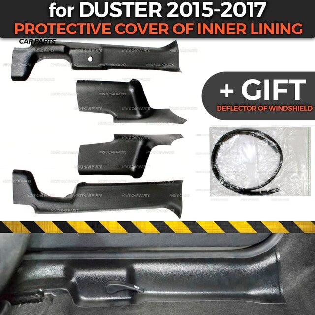 Защитные чехлы для Renault / Dacia Duster 2015 2017, внутренняя подкладка из АБС пластика, аксессуары для отделки, защита ковра