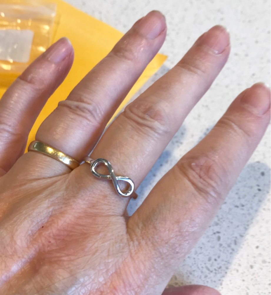 Infinity 925 Sterling Silver Ring photo review