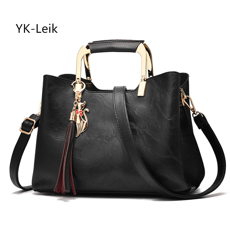 YK-Leik European and American fashion retro luxury women handbag Simple and generous ladies shoulder bags Tassel Messenger bag retro tiny bell tassel anklet for women