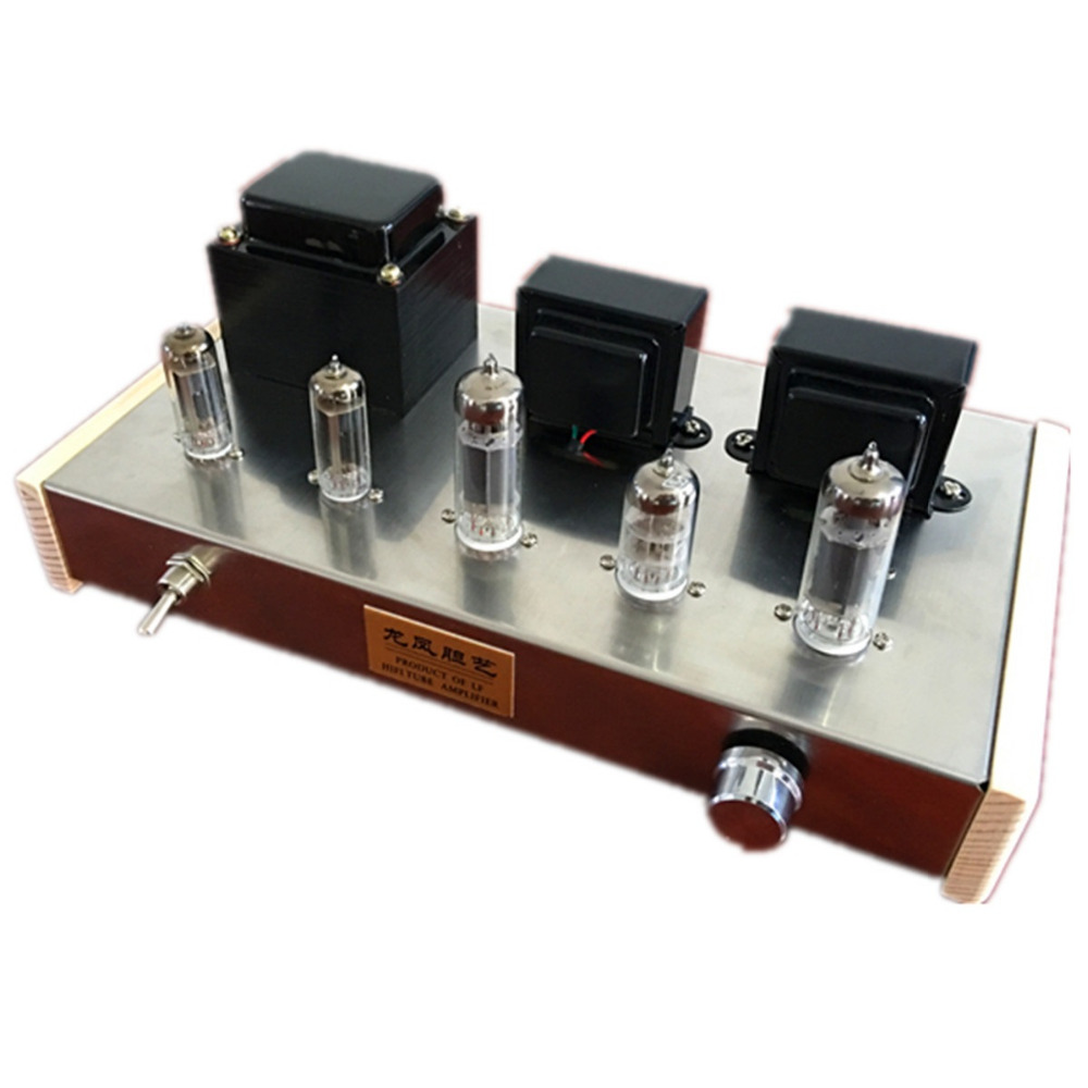Finished 6N2 Push 6P14 Vacuum Tube Amplifier Dual 6Z4 Tube Rectifier HiFi Audio Amplifier finished 6n2 push 6p1 double 6z4 tube amplifier tube rectifier amplifier