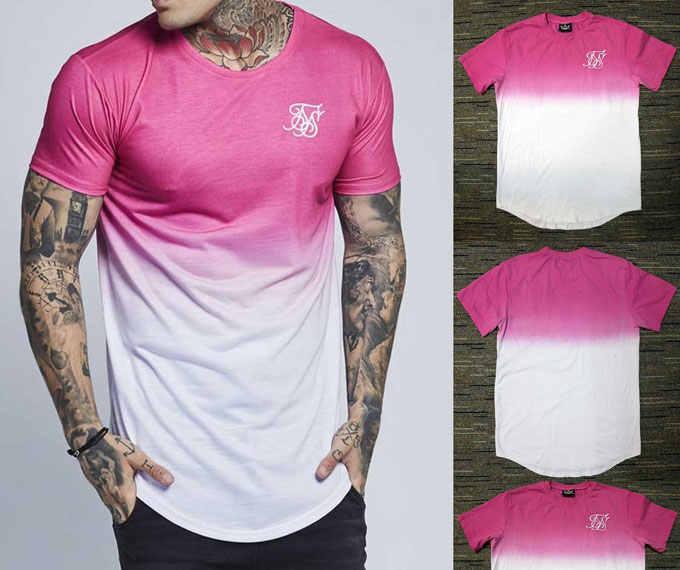 Летний стиль Для мужчин s футболки новые Kanye West Расширенный футболка Для мужчин лето изогнутые подол удлиненный Расширенный Длина Essential белая футболка