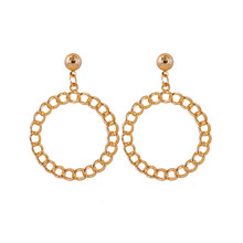 Circular earrings geometry Hollow out the droplets eardrop Women deserve to act role of party accessories