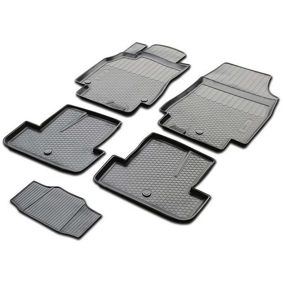Floor mats into saloon for Renault Megane 3 HATCHBACK 2010-2015 5 pcs/set (Rival 14705001) коврики салона rival для renault megane хэтчбек 2010 н в полиуретан 14705001