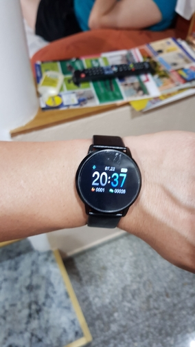 RUNDOING Q8 Smart Watch OLED Color Screen Smartwatch women Fashion Fitness Tracker Heart Rate monitor-in Smart Watches from Consumer Electronics on AliExpress