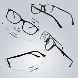 Image 3 - CGID TR90 ordinateur lunettes Anti rayons bleus rayonnement optique impression lunettes carré oeil PC lunettes cadres hommes et femmes CT46