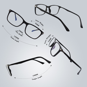 Image 3 - Cgid tr90 컴퓨터 안경 안티 블루 광선 방사선 광학 인쇄 안경 광장 눈 pc 안경 프레임 남성과 여성 ct46