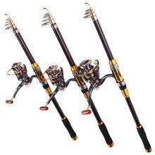 Sougayilang Spinning Fishing Rod Carbon Fiber 99% Trout Carp Telescopic Fishing Pole 2.1M 2.4M 2.7M 3.0M Lure Fishing Rod Tackle