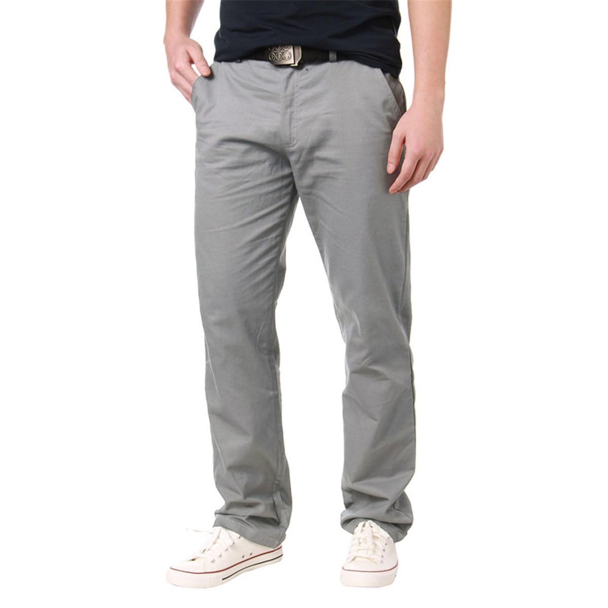 21605d9e426 Detail Feedback Questions about 2018 Men Autumn Spring Pants Fashion Casual  Work Formal Solid Color Zipper Slim Fit Cargo Harem Pants Male Long Trousers  30 ...
