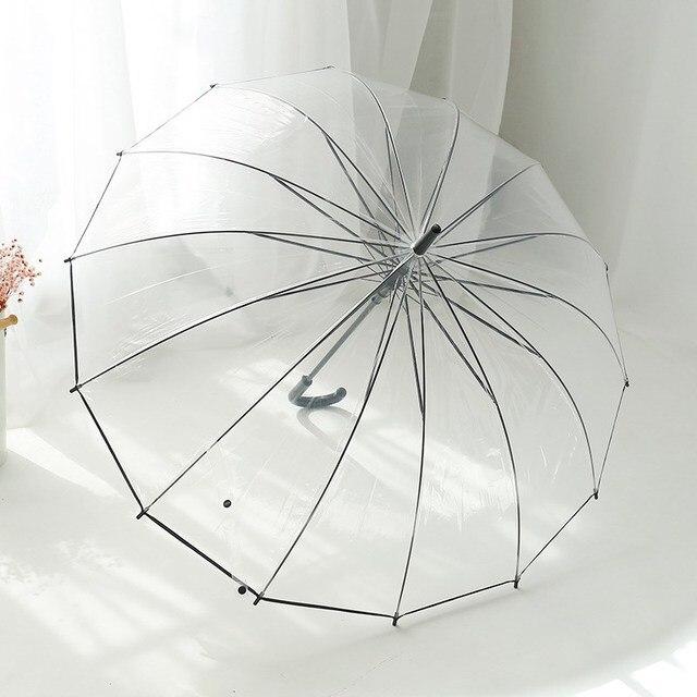 Прозрачные зонтики для девочек, женские зонтики, зонтик, детский зонт, дождевик, для женщин, милые, прозрачные, Paraguas, хорошее качество, POE