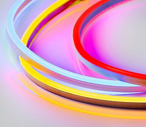 Thermo 120C RGB heat resistant multicolor LED strip for bath and sauna. Withstands high temperature
