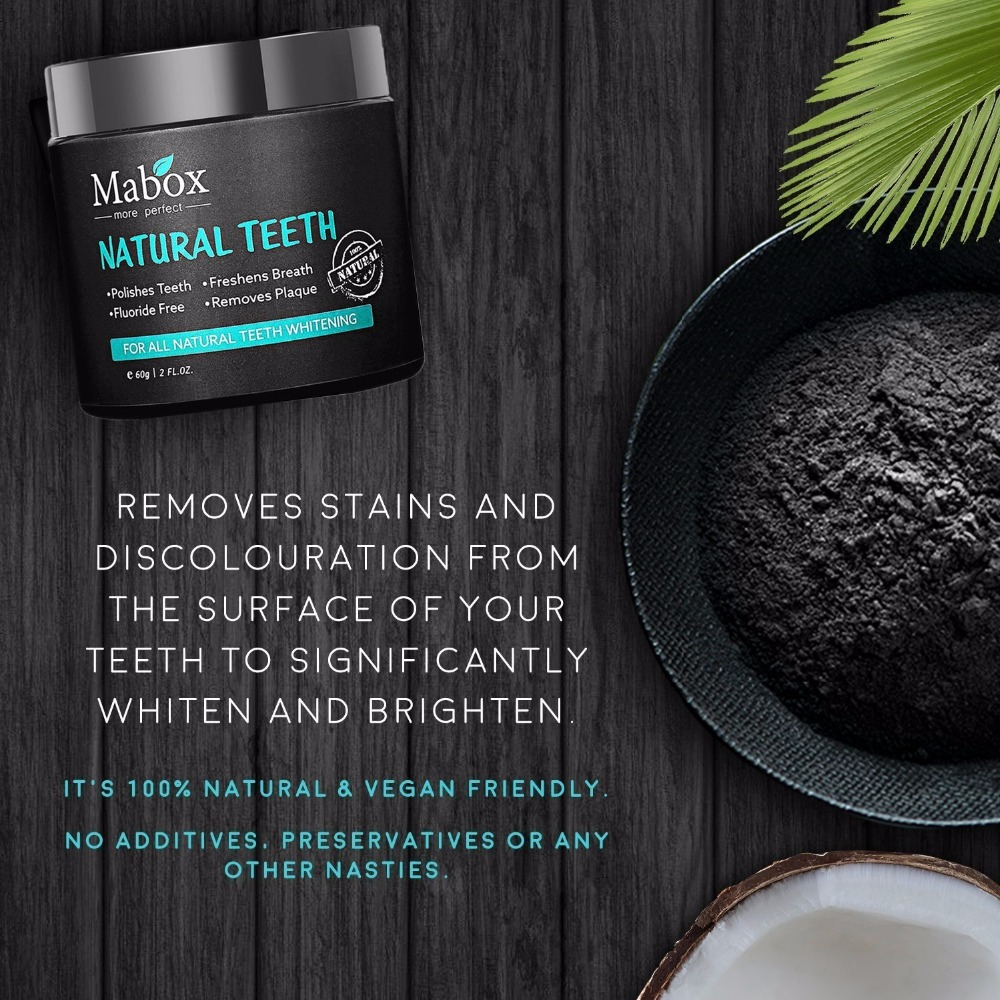 Activated Charcoal Natural Teeth Whitening Powder,Remove coffee stains, Organic Teeth Whitener, Freshens breath 3