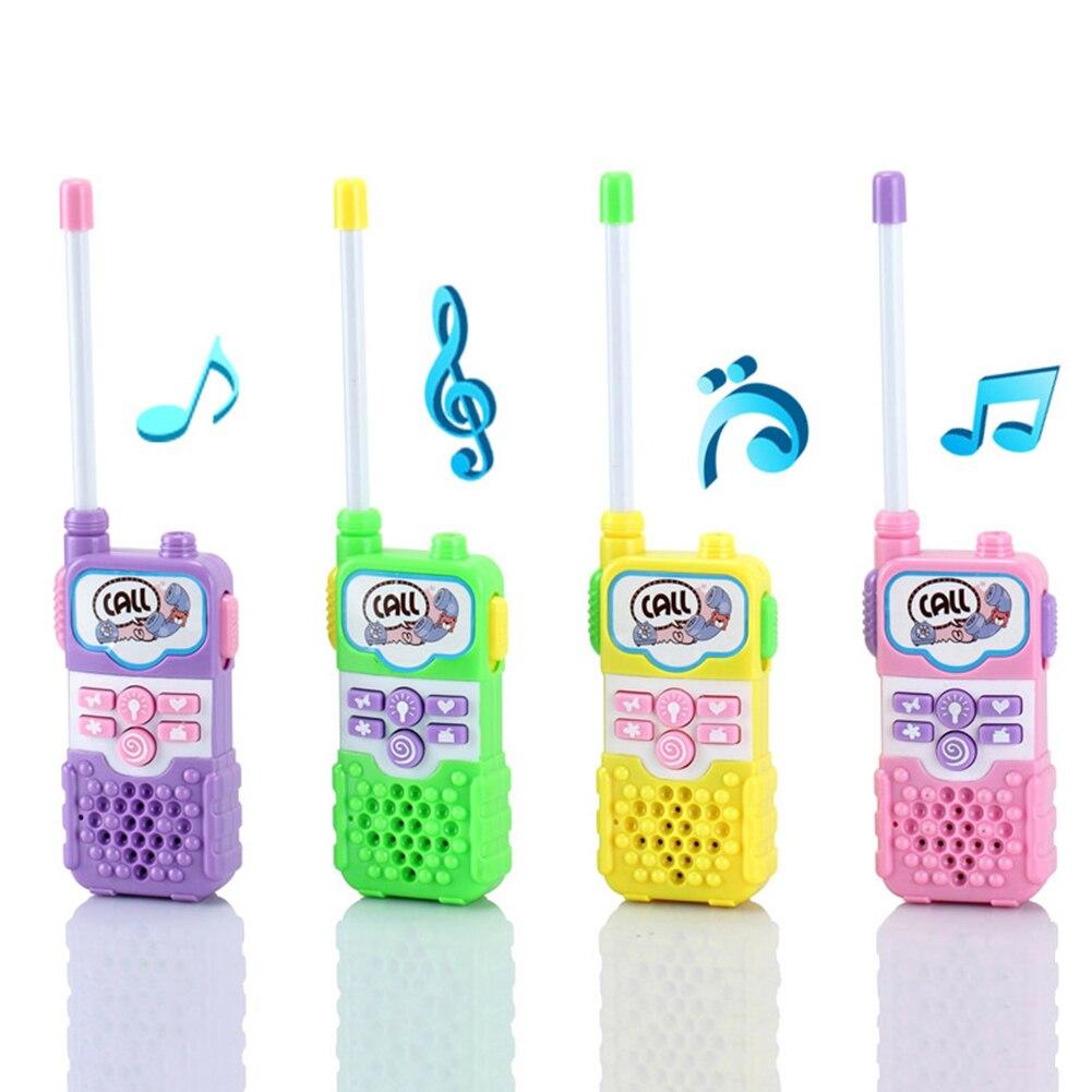Intercom Electronic Walkie Talkie Kids Child Mini Toys Portable Two-Way Radio baofeng uv 5rb walkie talkie dual band two way radio