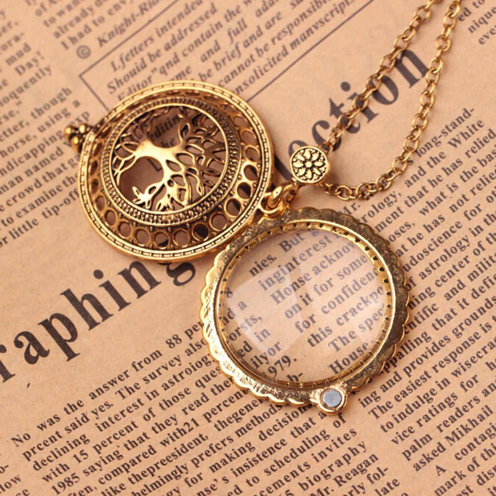 Высокое качество Винтаж увеличительное Стекло кулон Цепочки и ожерелья Древо жизни карманные часы время Воротник Колье