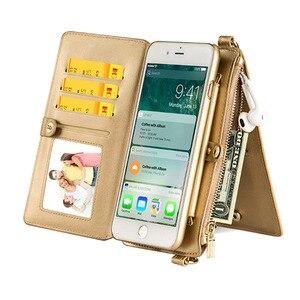 Image 2 - 4in1 Lederen Portemonnee Tas Case Voor Iphone 11 Pro Xr Xs Max X 6 7 8 Plus 12 Afneembare Telefoon cover Meisje Vrouwen Schoudertas Handtas