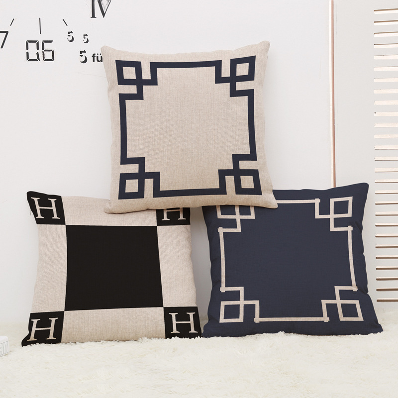 Europe Couch Cushion Cover Home Decorative Pillows Printed With Geometric Retro H Square Size 45x45cm Pillow Covers Pillowcase