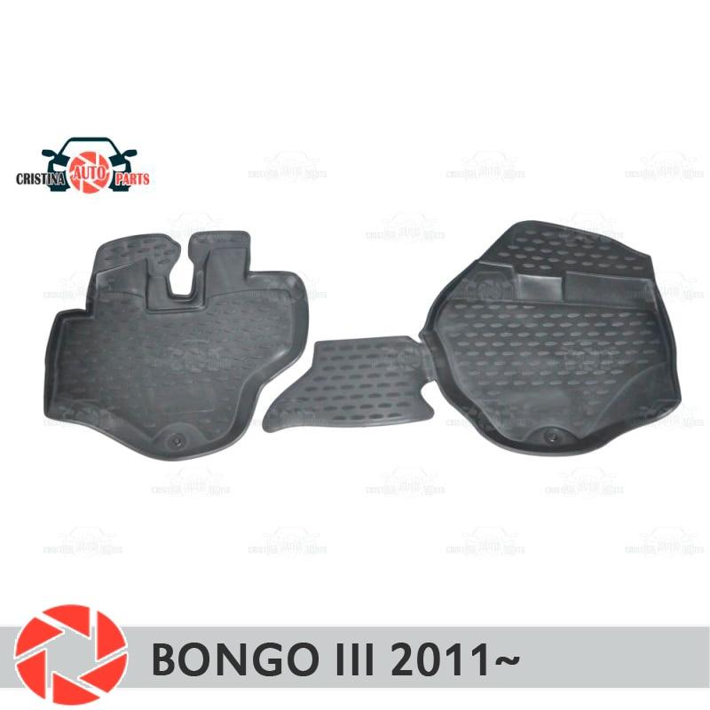 Alfombras de piso para Kia Bongo 3 2011 ~ alfombras antideslizantes de poliuretano tierra protección interior estilo de coche accesorios
