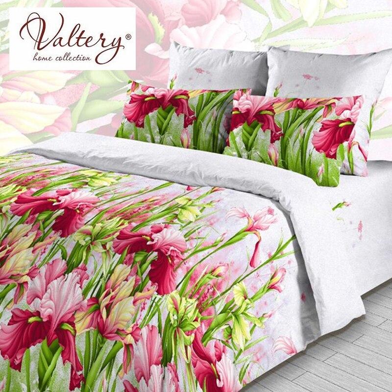 100% raso di cotone softcotton fiori di lusso set di biancheria da letto della regina king size copertura del duvet lenzuolo set di biancheria da letto set di biancheria da letto kit plaid