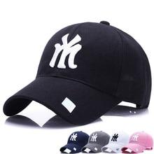 100% nuevo Unisex 2018 algodón exterior gorra de béisbol NY bordado  Snapback moda deportes sombreros para hombres y mujeres gorr. 7c16237f96f