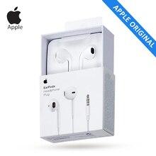 Apple EarPods A1472 Оригинальный 3,5 мм проводные наушники микрофоном наушников для мобильных iPhone 5/5S/SE/6/6 S Plus Планшетные ПК белый