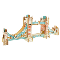 Tower Bridge wood diy building model assembly n scale models architecture constructor for adults knutselen voor volwassenen