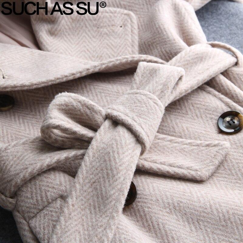 Laine Hiver Couleur Manteaux Coat black purple Breasted Femmes Taille Rayé Coat 3xl Une Ligne 5 La Nouvelle Coat Manteau M Mode De Double Coat Beige Automne pink Plus Coat Green Femelle 2018 Longs light tA0q60