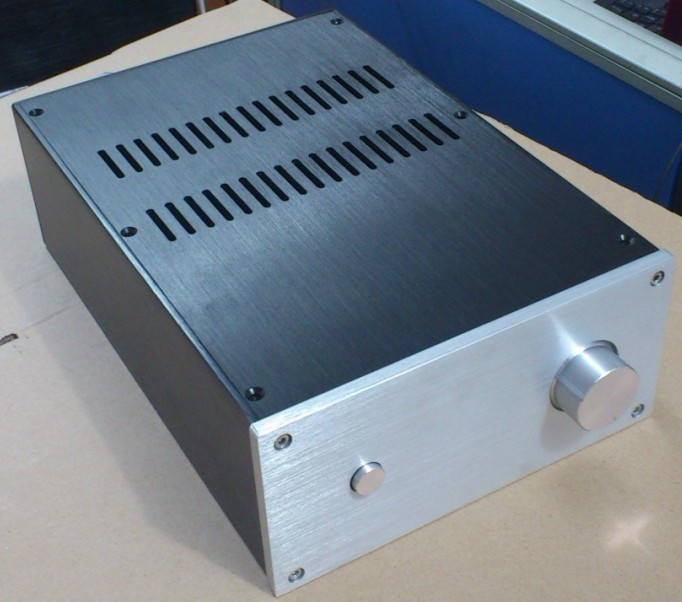 JC2210B All Aluminum Chassis Power Amplifier Housing Preamplifier Case DIY Box Amp Enclosure 220MM*100MM*311MM queenway 2210 new l panel cnc full aluminum chassis audio box power amplifier case 362mm 220mm 100mm 362 220 100mm
