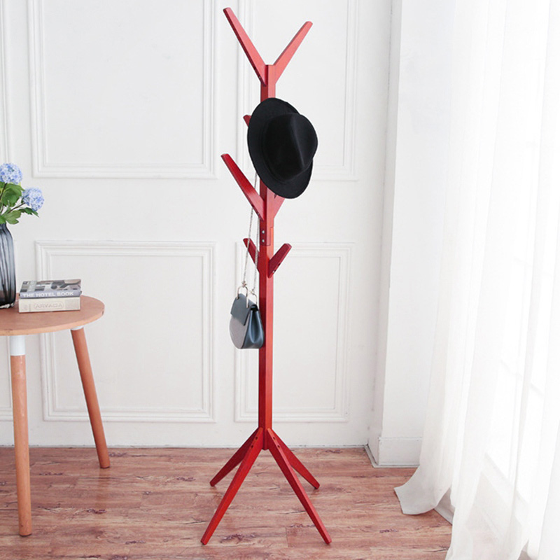 modern hangers wood coat hat rack household bedroom hall stand bag clothes holder tree pattern storage coat rack - Modern Coat Rack