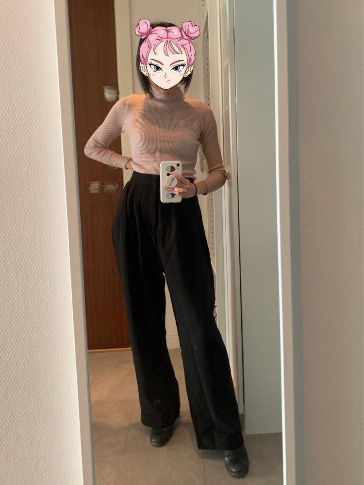 Trouser For Women High Waist Causal Loose Wide Leg Pants Female  Autumn Korean Fashion Elegant Tide photo review