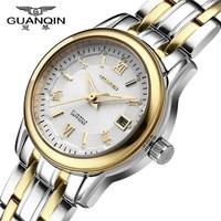 Relojes Mujer 2015 Fashion Watches Women Luxury Brand GUANQIN Steel Quartz Watch Relogio Feminino Waterproof Gold