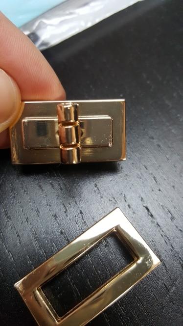 Osmond Metal Turn Twist Lock For Bag Accessories Parts DIY Handbag Purse Hardware Closure Turn Snap Clasp Closure 4 Size photo review
