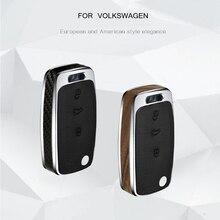 Автомобильный ключ чехол Дерево/карбоновое волокно ключ оболочки держатель пульт дистанционного управления для C-TREK Volkswagen VW Polo Passat Tiguan Bora подарок аксессуары