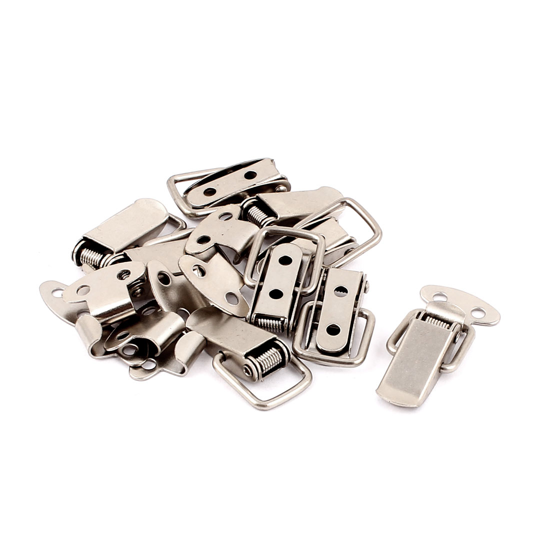 Hot Sale 9Pcs/pack 3.3cm Long Box Chest Case Spring Loaded Draw Toggle Latch Metal Catch Hardware High Quality Silver Tone