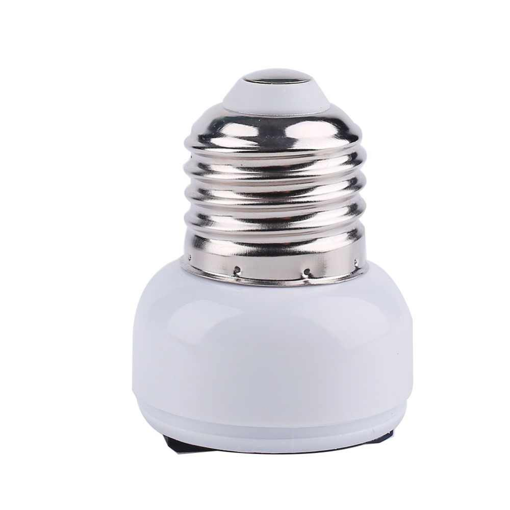 E27 Lamp Socket Light Holder US/EU Plug White Converter Screw Bulb Converter Lamp Base Connector Lighting Fixture Accessories