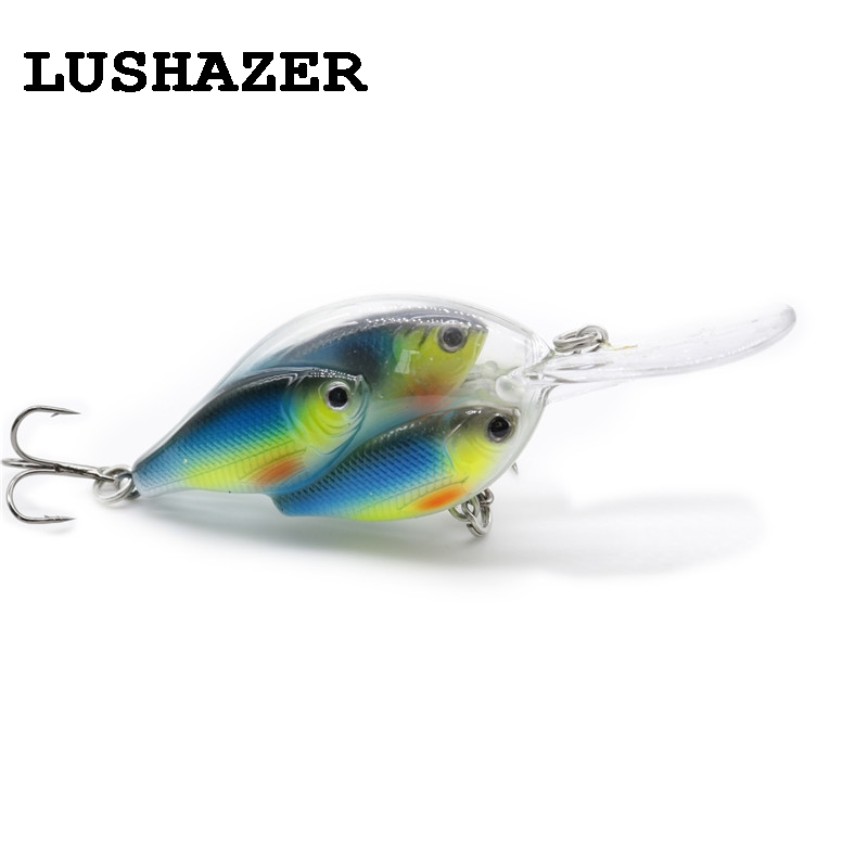 LUSHAZER Fishing lure minnow bait 18g hard lures carp fishing iscas artificiais 2016 wobbler crankbait cheap sea fishing tackle tsurinoya fishing lure minnow hard bait swimbait mini fish lures crankbait fishing tackle with 2 hook 42mm 3d eyes 10 colors set