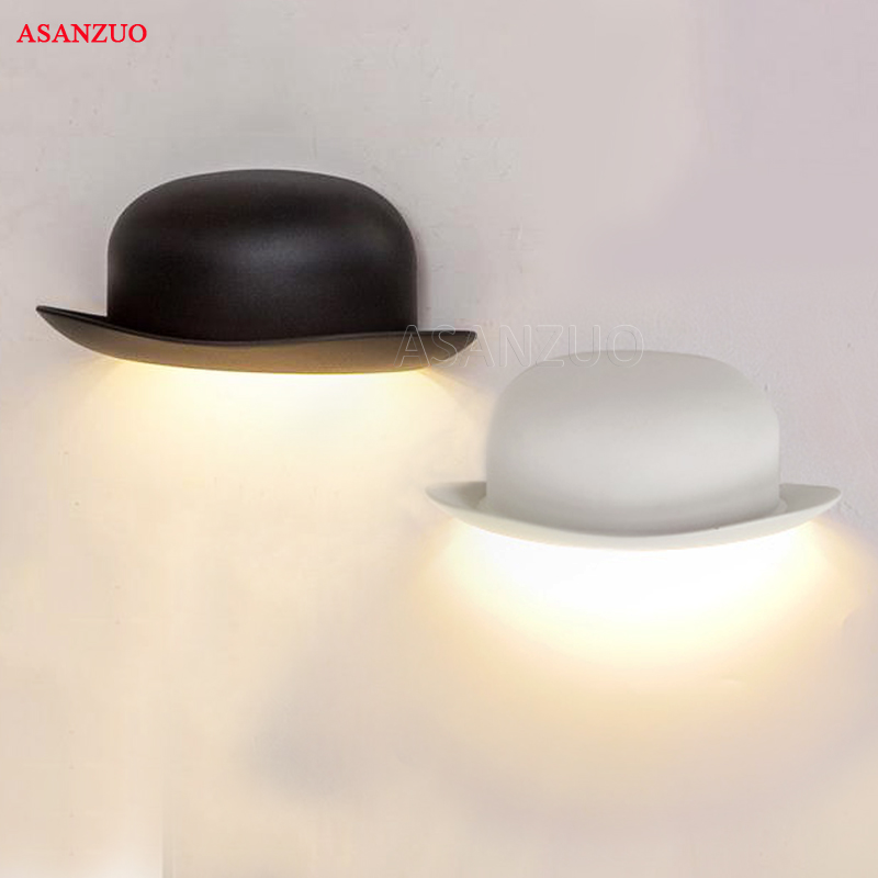 Modern minimalist LED aluminum wall lamps bedside bathroom light(IP55) creative Bedroom aisle New style hat wall light