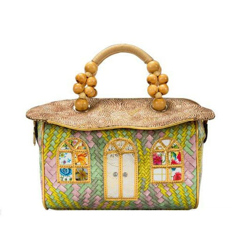 2018 nouveau conte de fées maison sac à main fait à la main conçu unique lolita sac femmes mignon fourre-tout corde poignée sac à main nouveauté en forme de sac